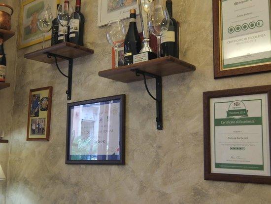 Osteria Barberini: Très bien noté par TripAdvisor !