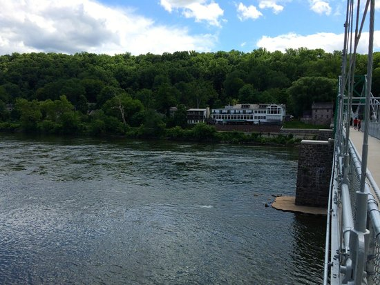 Black Bass Hotel from Across the Delaware River