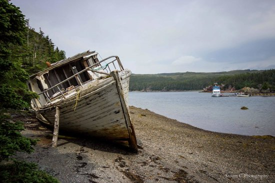 Woody Island Resort: Boat Wreck On Sound Island