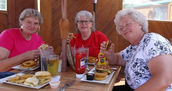 Cooper's at Bear Lake West Restaurant and Sports Bar : Three friends from class of 1963 enjoying lunch at Cooper's