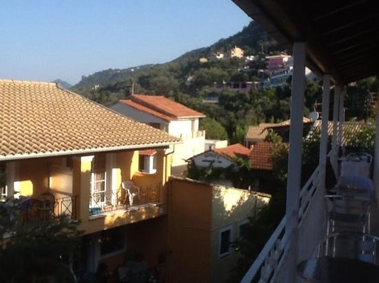 Sebastian's Family Taverna & Accommodation: view towards main street from room 4
