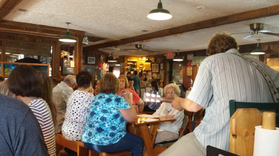 Woodlands Barbecue and Pickin Parlor: our view of the dining room from near the band