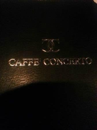 Caffe Concerto: The menu
