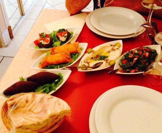 Restaurant Le Libanais: 5 mezzes !!!