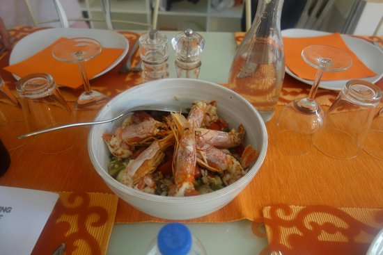 Giglio Cooking Day Course: Our Farro Salad with Steamed Prawns