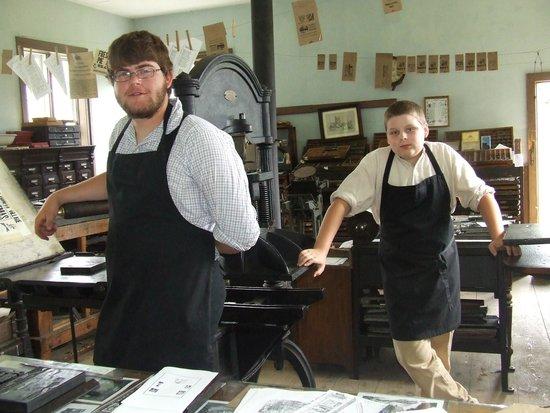 Lang Pioneer Village : in the print shop