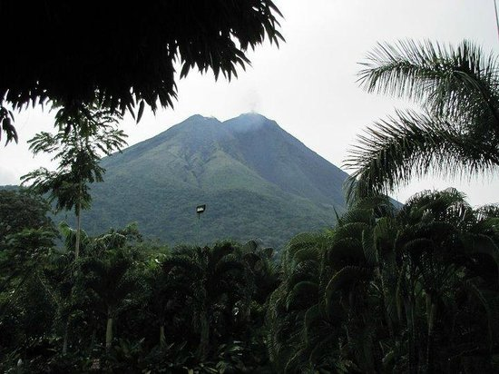 Get Lost In Costa Rica : View of Arenal from Baldi Hot Springs
