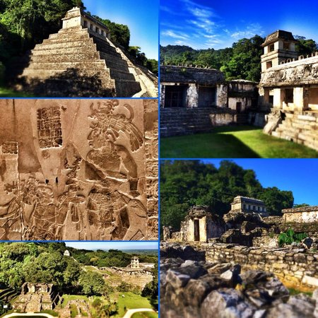 National Park of Palenque: Сайт Паленке (коллаж)