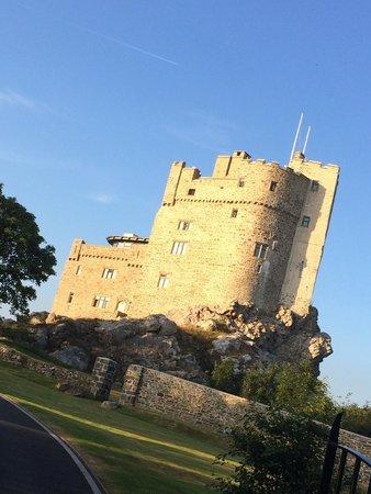 Roch Castle Hotel: Approach to castle