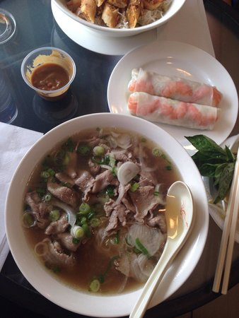 Saigon's Baguettes: Beef Pho Amazing broth flavour before adding any sauces. Huge portion