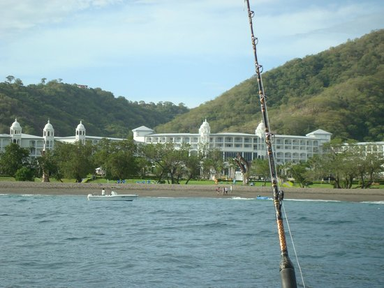Hotel Riu Palace Costa Rica: View of resort from fishing boat