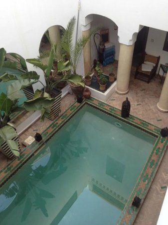 Riad Al Warda: The pool from my room