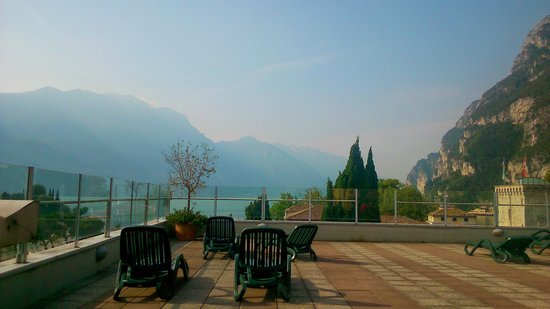 Grand Hotel Riva: view from the breakfast terrace