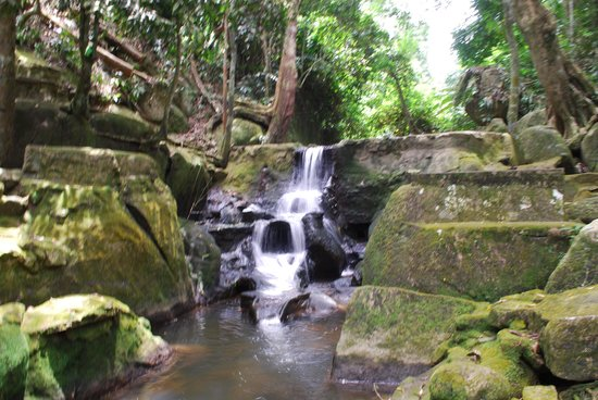 Secret Buddha Garden: Waterfall