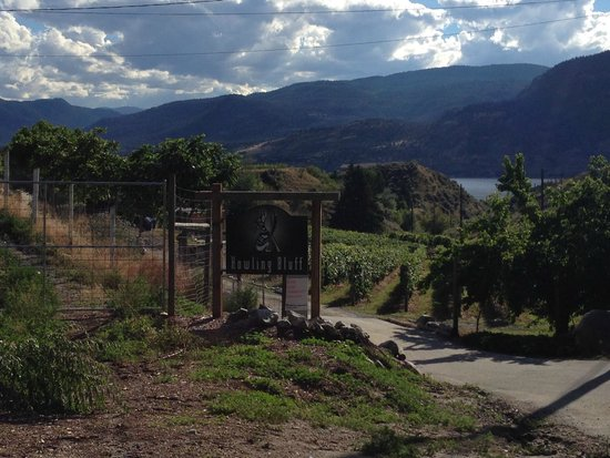 Howling Bluff Estate Winery : The entrance