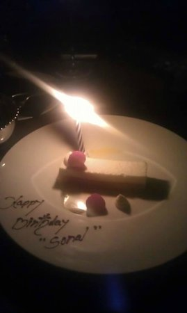 At.Mosphere Restaurant: surprise from the restaurant
