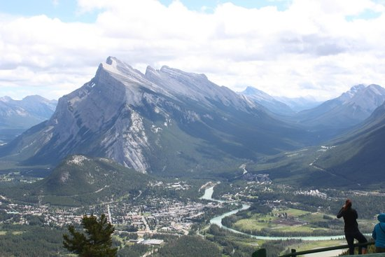 Mt. Norquay : View of Banff from the top.