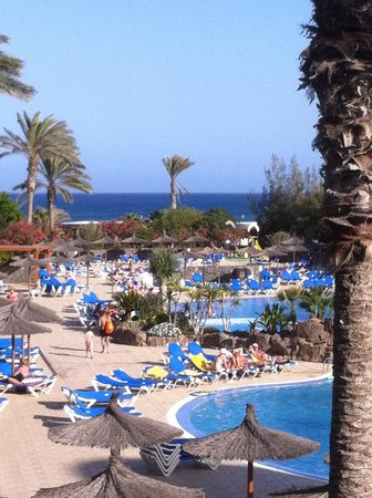 Hotel Elba Carlota: Uitzicht over de zwembaden