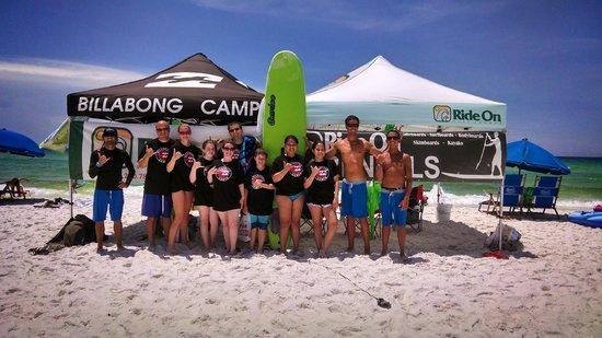 Ride On Surf School : Group Shot