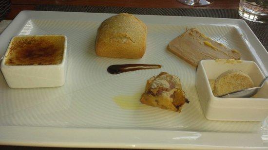 La Paillote Lagon : Assortiment de foie gras