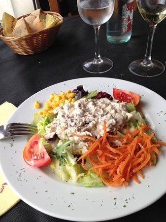 Restaurante Las Vegas: mushroom salad - a light dish!