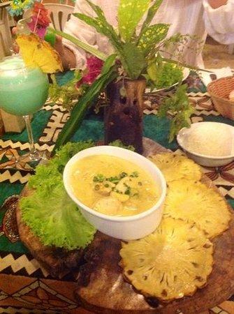 Restaurant Coco D'isle : pescado en coco y curry. delicioso