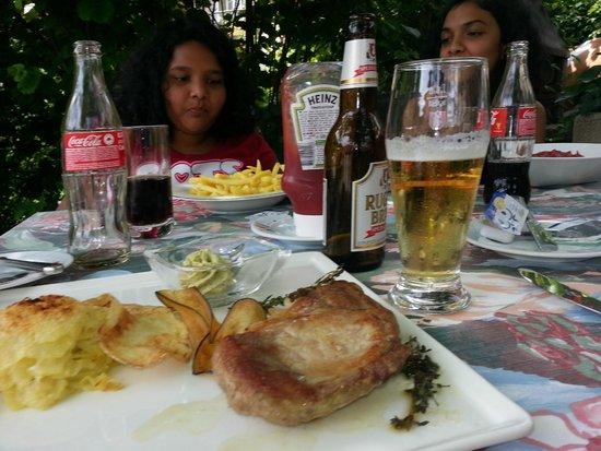 Stella Hotel Interlaken: Pork steak