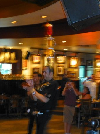 Hard Rock Cafe Sharm El Sheikh : Balancing 4 drinks on his head - top entertainment