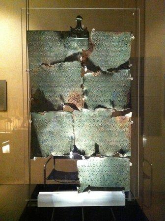 Tabula Cortonensis al MAEC - Museo dell'Accademia Etrusca
