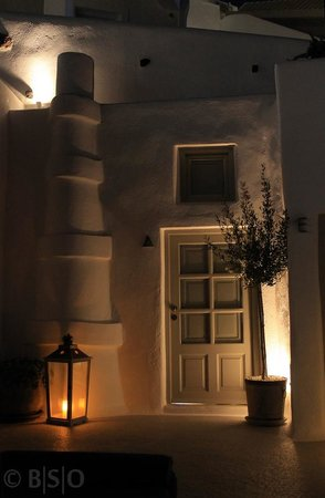 Iconic Santorini, a boutique cave hotel: Our room outside