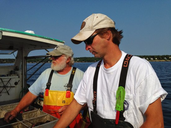 Lobster Boat Tour w/ Captain Clive Farrin: Capt. Clive and his First Mate.