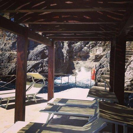 Hotel La Conca Azzurra : The private bay/jetty area