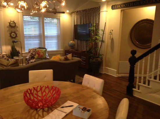 Rehoboth Guest House: Living Room and Dining Area