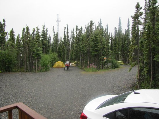 Northern Nights Campground and RV Park : View from the cabin's entrance
