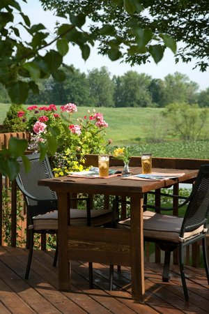 Castle in the Country Bed & Breakfast Inn: Sit outside overlooking our pond