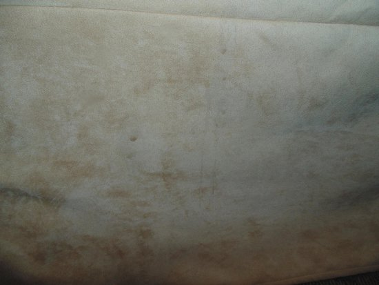 Best Western Brantford Hotel & Conference Centre : Brown stain on bed skirt