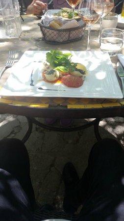 Sous les Micocouliers : conchiglionnis farcis aux blettes et caviar d'aubergines