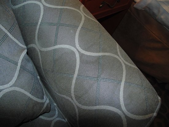 Best Western Brantford Hotel & Conference Centre : stains on sofa bed