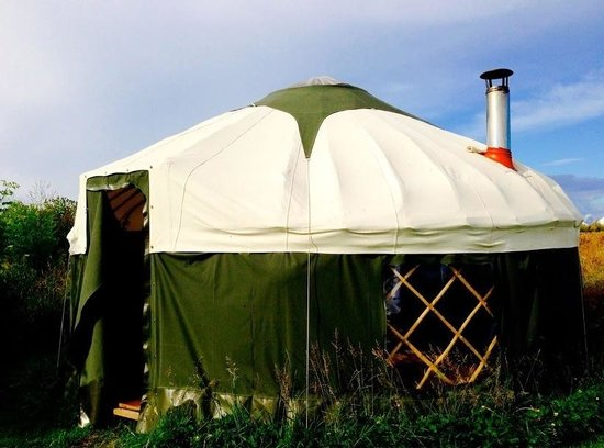 High Nature Centre: Our lovely yurt complete with a wood burner!