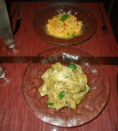 Marmalade Restaurant & Wine Bar: lobster risotto and pappardelle pasta