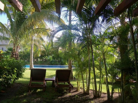 Excellence Playa Mujeres: Lounge chairs in front of our swim-up room