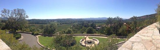 Palmaz Vineyards: A view from Palmaz Winery