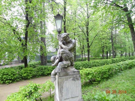 Parc Łazienki : A estátua.