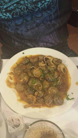 Los Caracoles : Entrée d'escargots