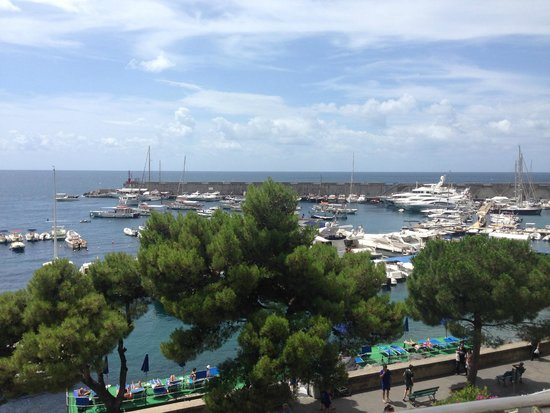Hotel la Bussola: View from our balcony