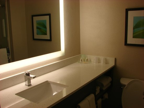Holiday Inn Resort Aruba - Beach Resort & Casino: Banheiro bonito, mas falta uma ducha higiêncica