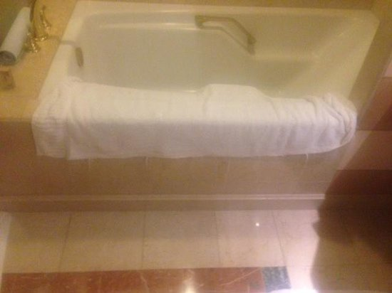 The Venetian Las Vegas : frayed towel - hanging from bar