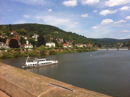 Carl Theodor Old Bridge (Alte Brucke): View from bridge looking upstream