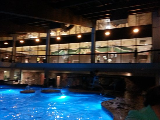 indoor gym pool. Minerals Hotel: Indoor Pool, Basketball Gym Above Pool