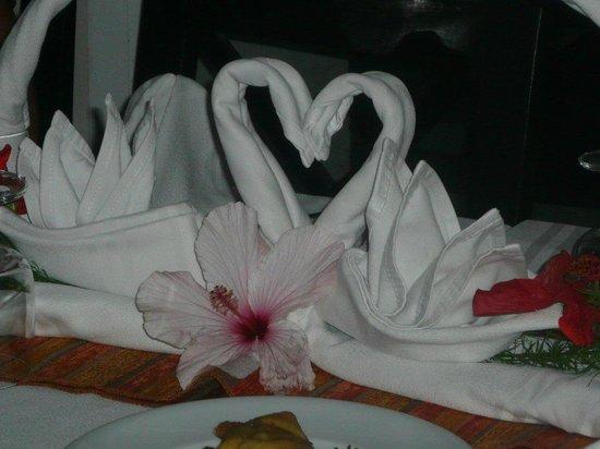 Djerba Holiday Beach : merci au serveur pour les belles décos